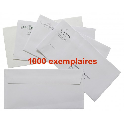 Enveloppes personnalisées - Lot de 1000ex.