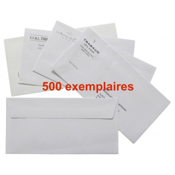 Enveloppes personnalisées - Lot de 500 ex.