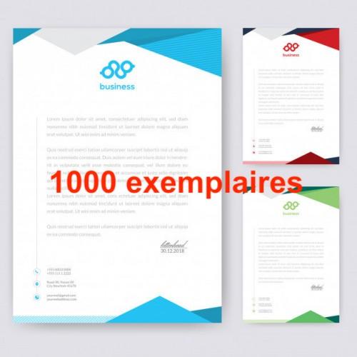 papier a en-tête Lot de 1000ex