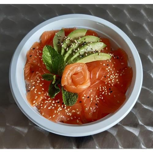 Chiraschi - Tranches de poisson cru dans un bol de riz vinaigré