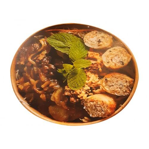 Bobun : Vermicelles de riz, Boeuf sauté, nems, assortiments de salades