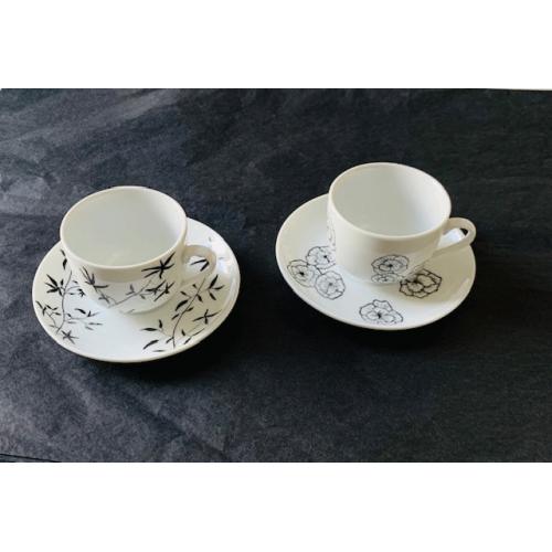 Tasse à café peintes à la main