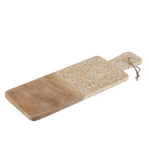 Planche à découper bois et terrazzo