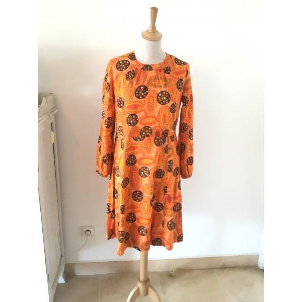 Robe vintage imprimée taille 38