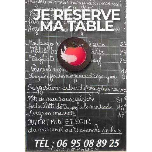 Réservation de table LA TOMATE VOLANTE