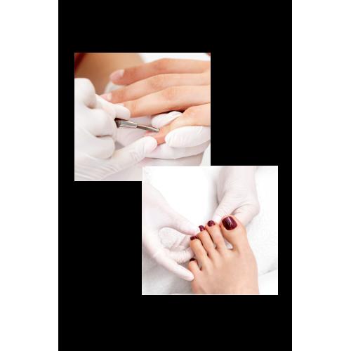 Soins des mains + soin des pied à domicile + Vernis semi-permanent