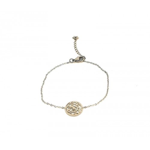 Bracelet en acier inoxydable motif rose