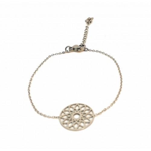 Bracelet en acier inoxydable motif rosace